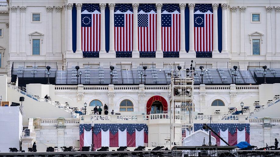 US Capitol Biden Inauguration preparations AP
