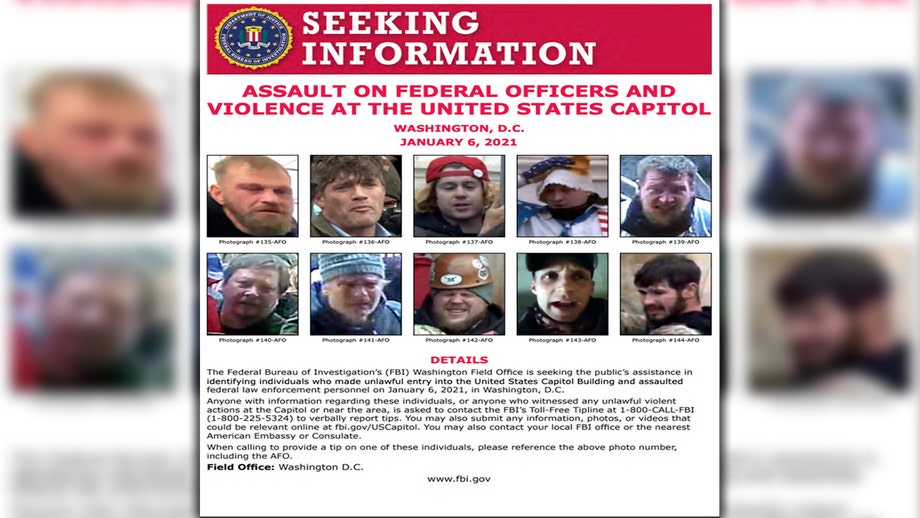 FBI releases new wanted poster of suspected Capitol rioters