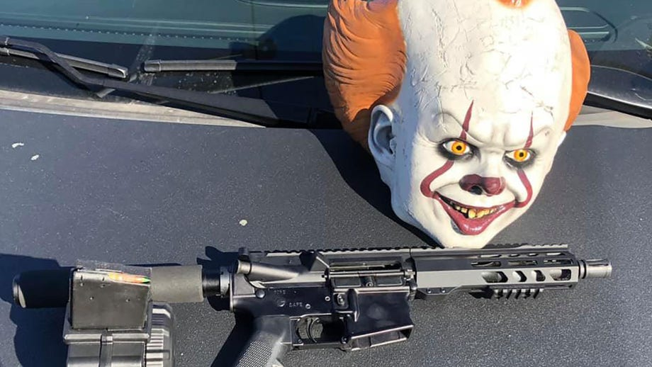 California driver arrested after 'fully loaded AR-15,' 'It' clown mask found in car, police say