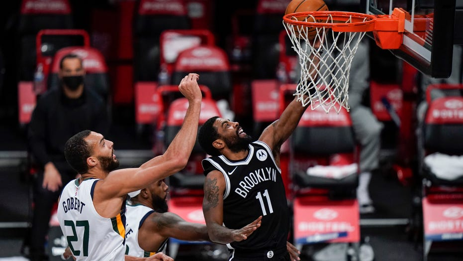 Kyrie Irving leads undermanned Nets to 130-96 rout of Jazz