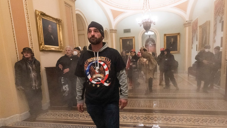Man who led rioters up Capitol stairs identified as Iowan in local news reports