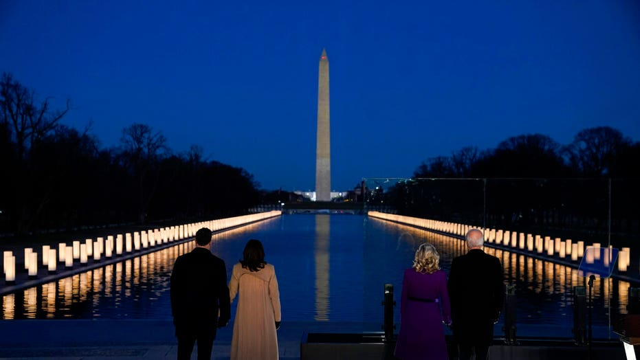 Biden, Harris attend memorial ceremony for COVID-19 victims at National Mall
