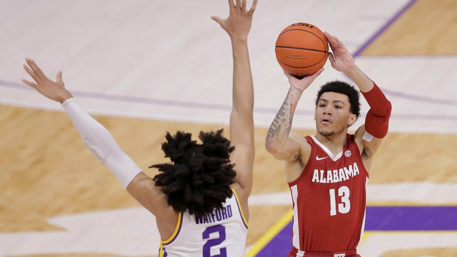 Petty, No. 18 Alabama rain in 3s, beat LSU 105-75