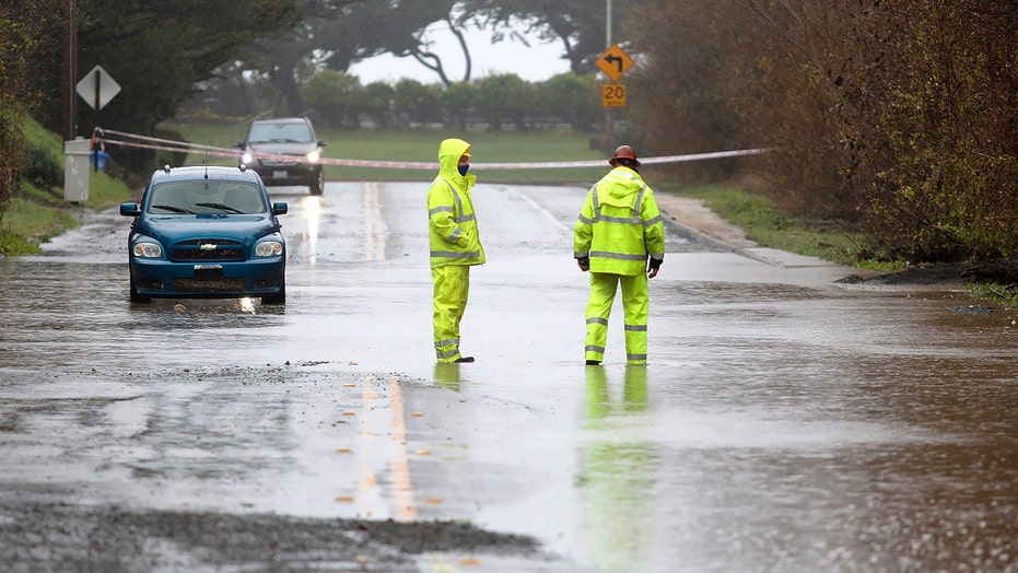 Deadly California storm washes out stretch of iconic Highway, floods homes