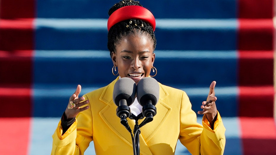 Amanda Gorman becomes the youngest Inaugural poet with reading of 'The Hill We Climb' at Biden's swearing-in