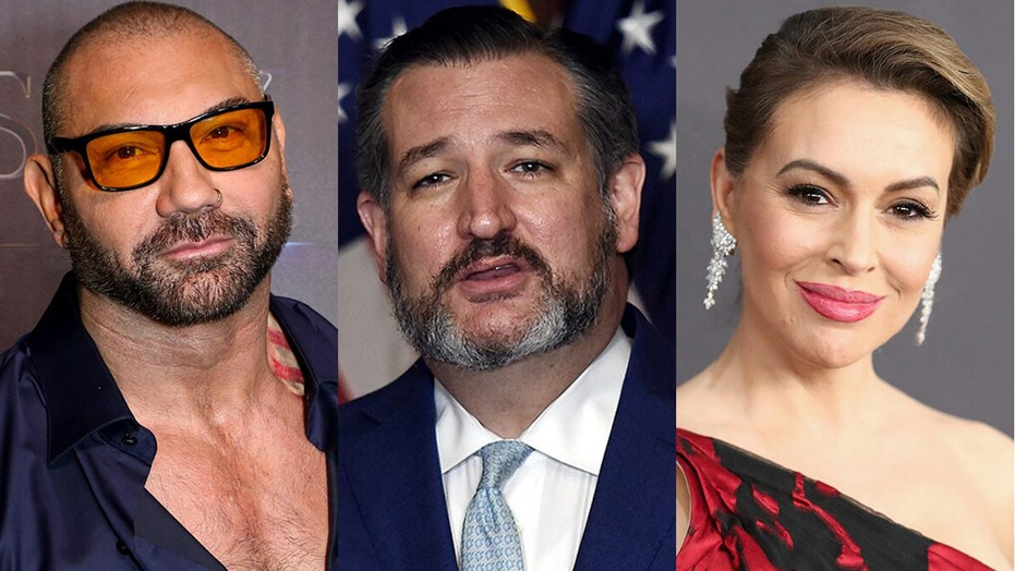 Dave Bautista, Alyssa Milano share petition calling for Sen. Ted Cruz to be expelled from Senate