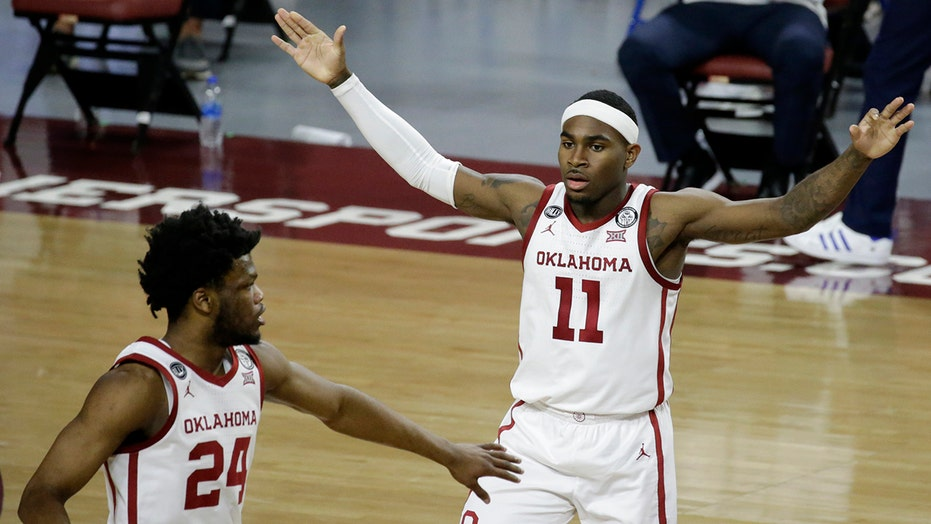 Harmon's 22 points sends Oklahoma past No. 9 Kansas 75-68