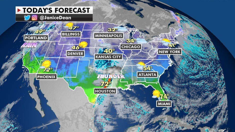 Heavy rain on West Coast, wintry weather will move into Northern Plains