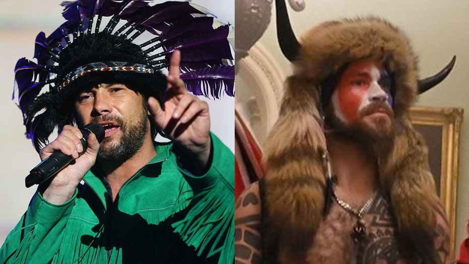 Jamiroquai lead singer Jay Kay denies he was at Capitol riots after fans mistake him for man in horned helmet