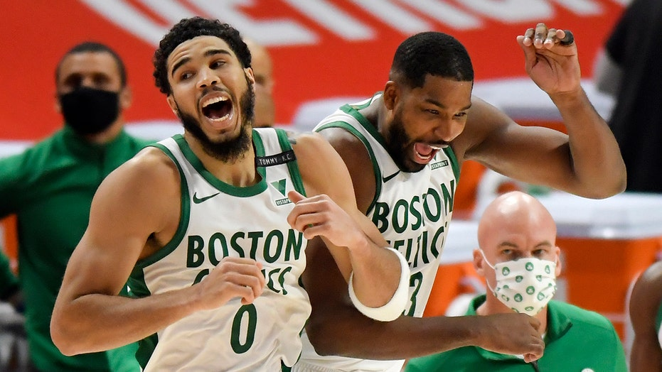 Tatum lifts Celtics past Pistons for weekend split