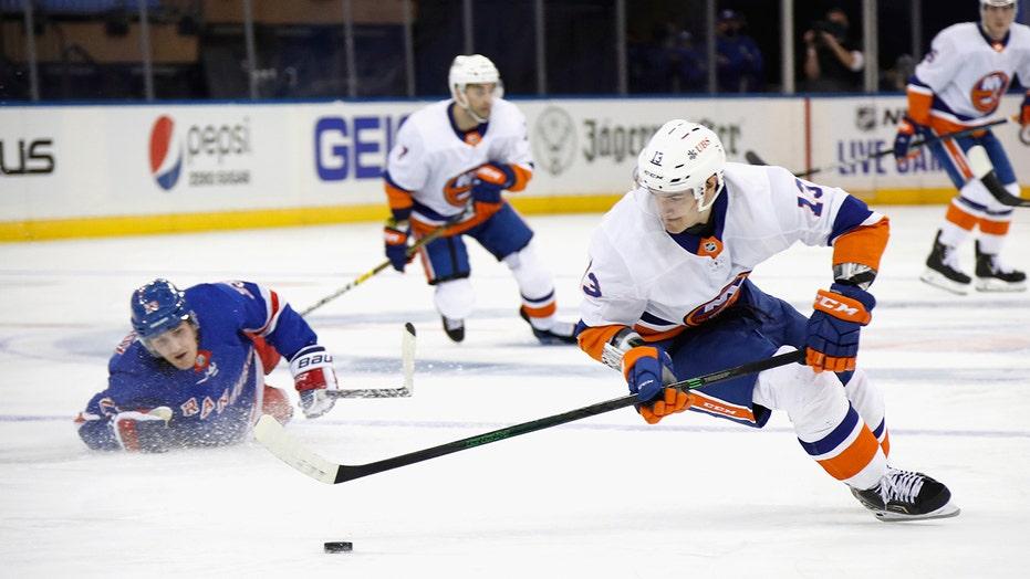 Islanders beat Rangers 4-0 in 1st of 8 games between rivals