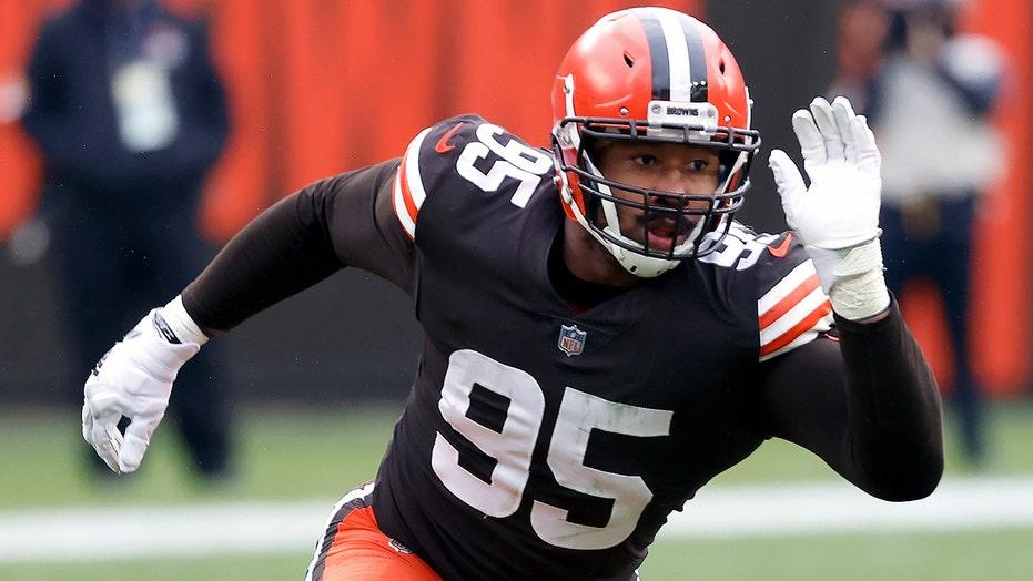 Browns' Myles Garrett says he won't wear sleeveless uniform again after second drug test