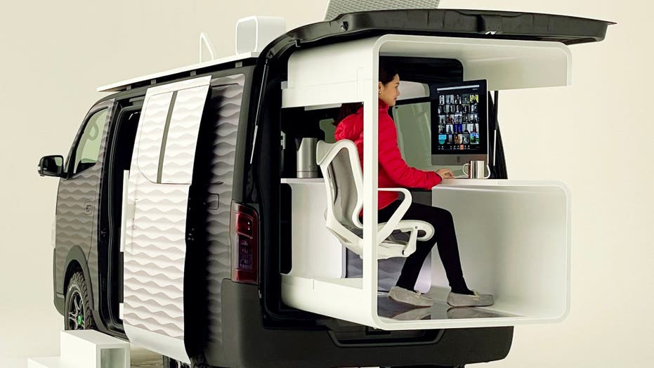 Nissan designs mobile office van for 'work from home' age