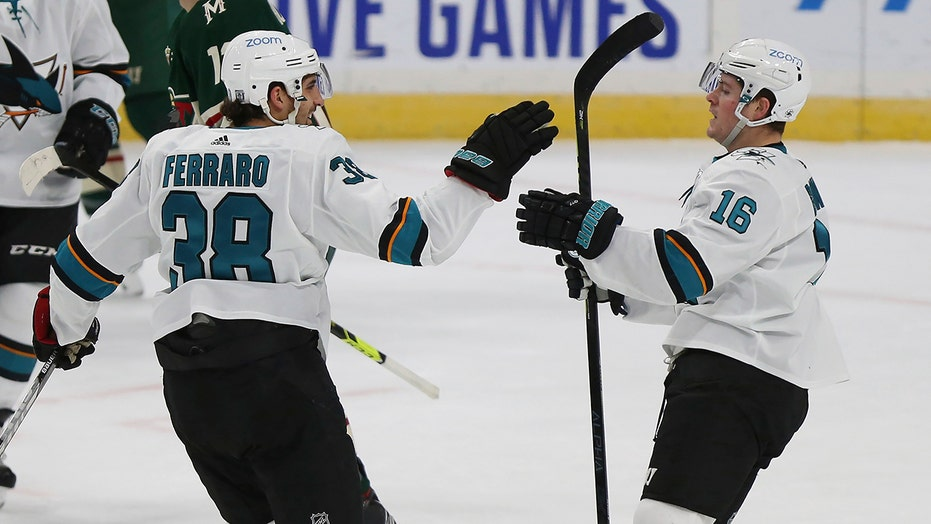 Brent Burns scores late, helps San Jose beat Minnesota 5-3