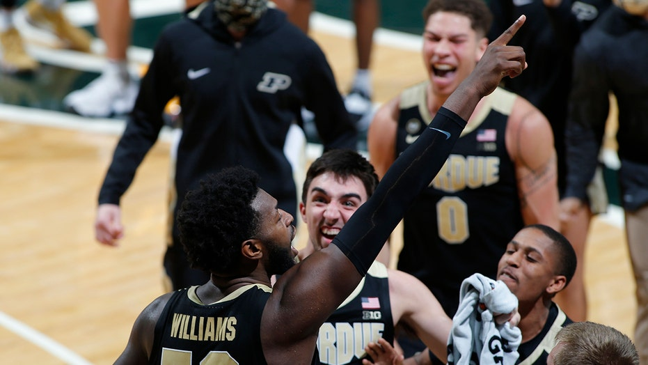Williams-led Purdue rallies to beat No. 23 Michigan St 55-54