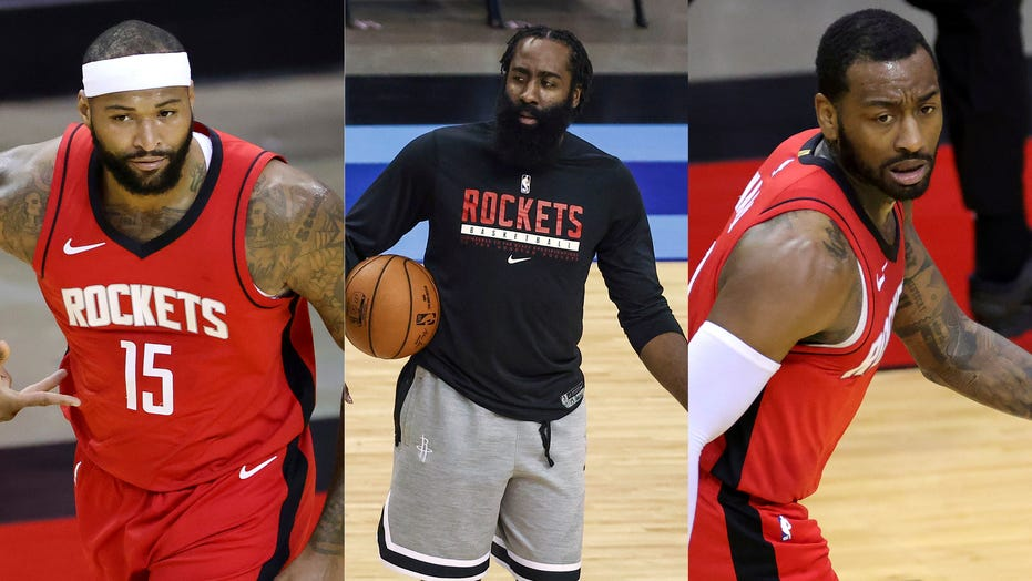 Rockets' John Wall, DeMarcus Cousins confronted James Harden in locker room meeting before trade: report