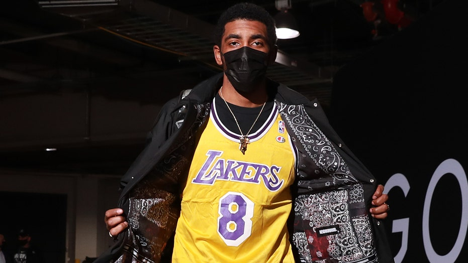 Kyrie Irving wears Kobe Bryant Lakers' jersey ahead Nets, Heat game