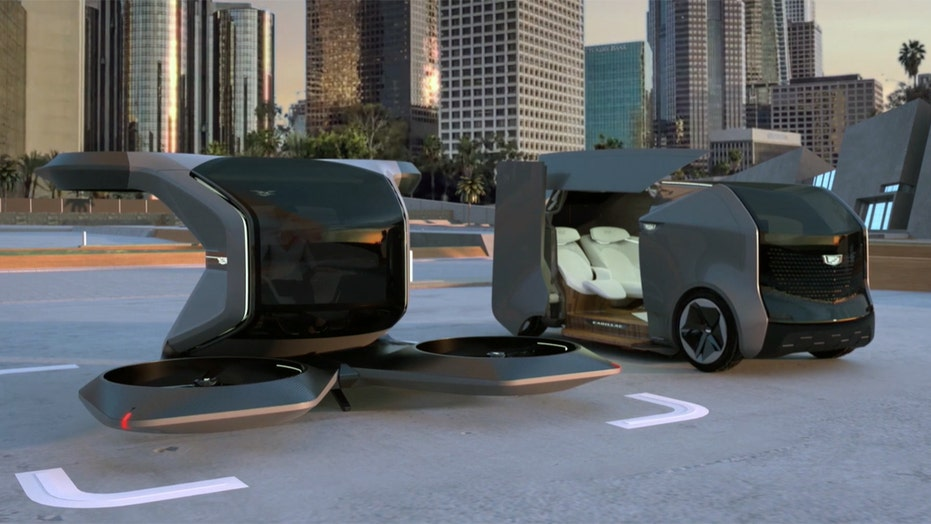 Cadillac unveils flying vehicle, autonomous luxury van concepts