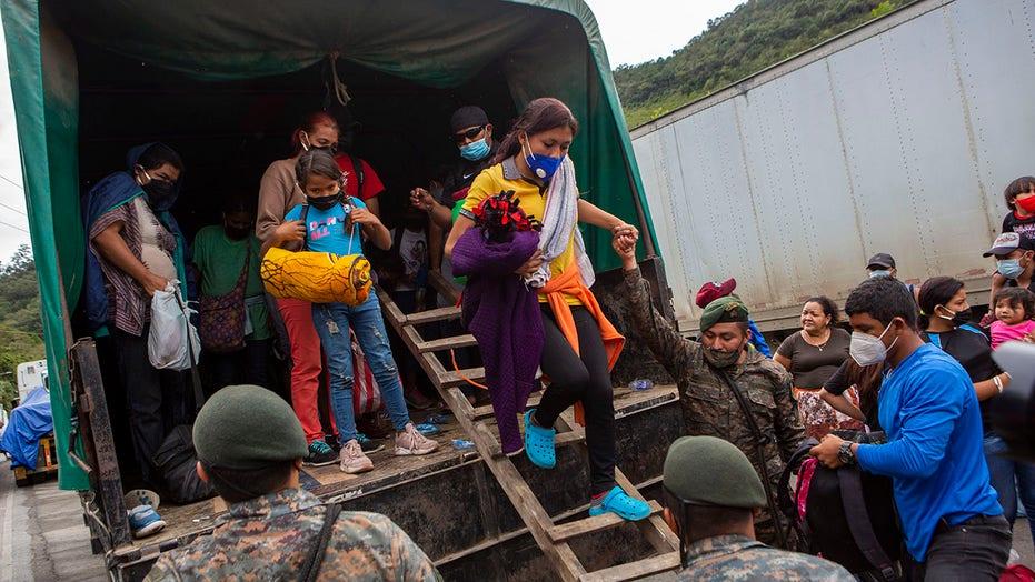 Guatemala buses more migrants back to Honduras; small groups press on toward Mexico