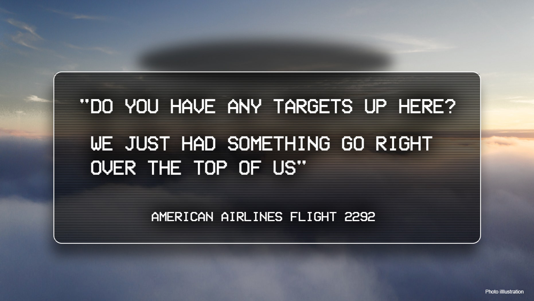 FBI 'Aware of' American Airlines Possible UFO Spotting, Stops Short of Confirming Investigation