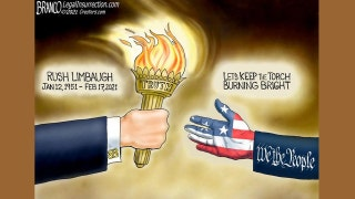 Political cartoon of the day: Passing the torch of truth and liberty