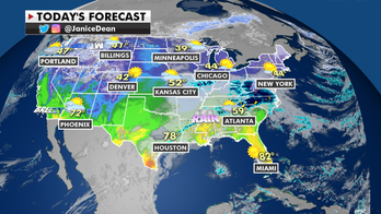 Showers, thunderstorms to move through Southern and Eastern US