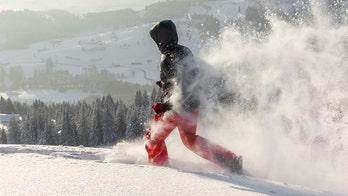 Finnish runners wear only socks in deep snow for alternative fitness trend