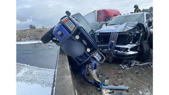 Montana massive 30 car pile-up blamed on icy bridge