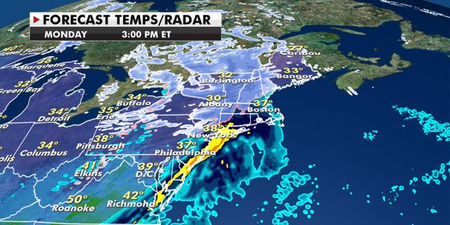 Radar conditions for Monday. (Fox News)