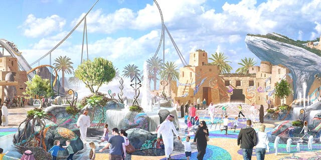The 79-acre park will include 28 rides plus other attractions like sports arenas and concert venues.