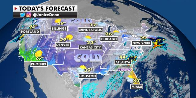 The national forecast for Thursday, Feb. 18. (Fox News)