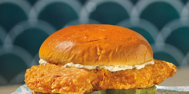 Popeyes is debuting its new Cajun Flounder Sandwich on Thursday.
