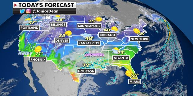The national forecast for Thursday, Feb. 25. (Fox News)