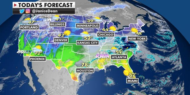 The national forecast for Friday, Feb. 26. (Fox News)