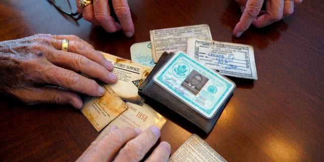 Paul Grisham lost his wallet while he was working on Antarctica as a Navy meteorologist in 1967 and 1968. Fifty-three years after he left the continent, Grisham's wallet has been returned to him. (Nelvin C. Cepeda/The San Diego Union-Tribune via AP)