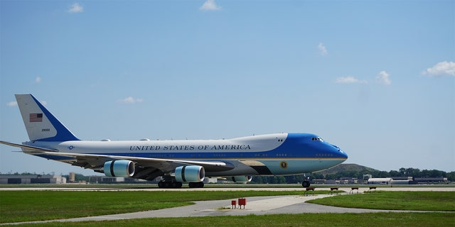 Air Force One lands at Joint Base Andrews. (National Geographic/Renegade Pictures)