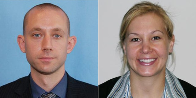 FBI special agents Daniel Alfin, 36, and Laura Schwartzenberger, 43, were killed in the early-morning shooting on Feb. 2, 2021. Three others were hurt, two of them seriously.