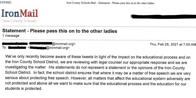 Iron County School District statement