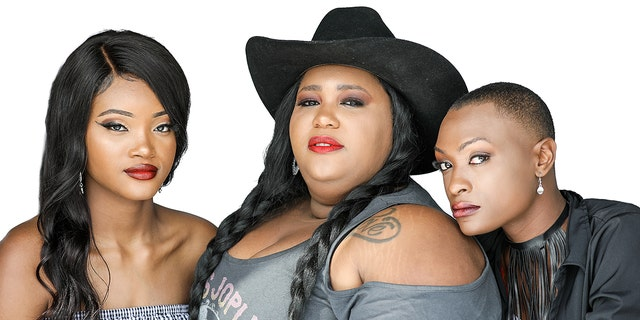 Country trio Chapel Hart is made up of three family members: Sisters Devyn (left) and Danica (center) Hart and their cousin Trea Swindle (right).