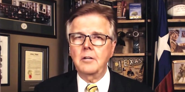Texas Lt. Gov. Dan Patrick on Fox News. Patrick said that calling the state's election security bills voter suppression is