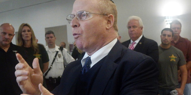 Attorney David Schoen speaks to the media, Wednesday, Jan. 6, Schoen is a civil rights lawyer who is on former President Trump's legal team for his impeachment trial. (Joe Cavaretta/South Florida Sun-Sentinel via AP) MAGS OUT