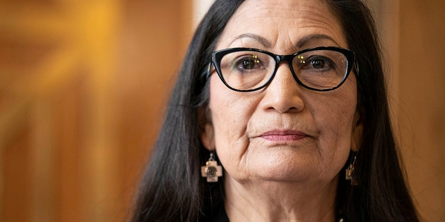 Former Rep. Debra Haaland, D-N.M., testifies before a Senate Committee on Energy and Natural Resources hearing on her nomination to be secretary of the interior on Capitol Hill in Washington, Wednesday, Feb. 24, 2021. She was confirmed as the interior secretary earlier this month. (Sarah Silbiger/Pool via AP)