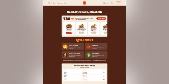 Burger King's new rewards program, Royal Perks. (Burger King).