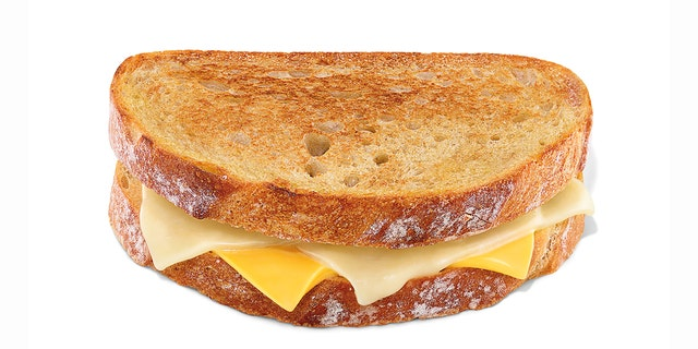 The new grilled cheese fusion sandwich, served on sourdough bread.