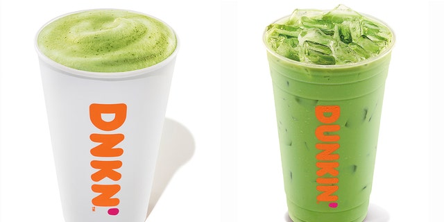 Dunkin 'has also added a new Blueberry Matcha Latte to the menus.  The drink is available in hot and iced versions.