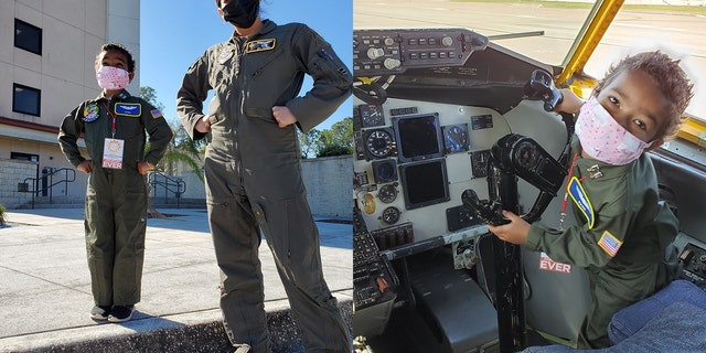 Ever Young is seen living out her dream as an Air Force pilot. (MacDill Air Force Base)