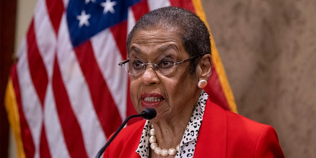 WASHINGTON, DC - JULY 23: Del. Eleanor Holmes Norton (D-D.C) speaks on Capitol Hill on July 23, 2020 in Washington, corriente continua. The bill defies longstanding precedents in treating the District of Columbia as a territory instead of as a state for federal funding under the $  150 billion coronavirus relief fund for states and territories, depriving D.C. of an estimated $  750 millón. (Photo by Tasos Katopodis/Getty Images)