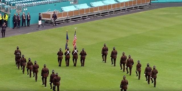 The FBI honored Special Agent Laura Schwartzenberger atHard Rock Stadium in Miami Saturday.