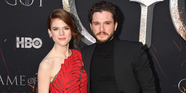 Rose Leslie and Kit Harington attend the 'Game Of Thrones' Season 8 NY Premiere on April 3, 2019, in New York City.