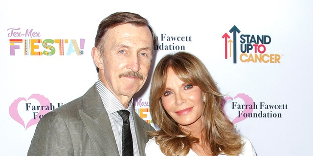 Dr. Brad Allen and Jaclyn Smith attend the Farrah Fawcett Foundation's Tex-Mex Fiesta at Wallis Annenberg Center for the Performing Arts on September 06, 2019, in Beverly Hills, California.